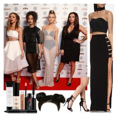 """""""5th Member of Little Mix    Cosmo Awards"""" by missemily131000 ❤ liked on Polyvore featuring by johnny, Forever New and Smashbox"""