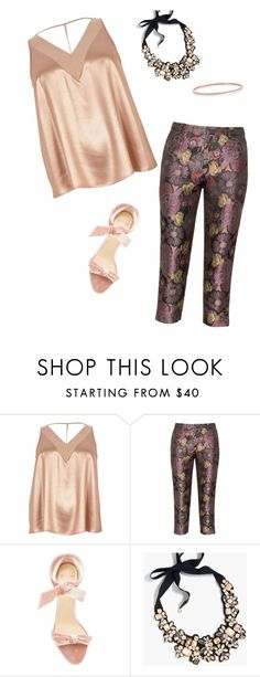 """""""Pretty in pink"""" by terrymccaleb ❤ liked on Polyvore featuring River Island, Manon Baptiste, Alexandre Birman and J.Crew"""