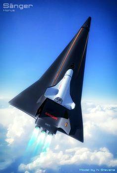 Sanger Spaceplane and Horus Orbiter by GrahamTG.deviantart.com on @DeviantArt