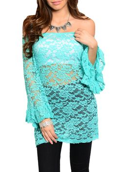 DHStyles Women's Mint Sexy Cold Shoulder Floral Lace Ruffled Top #sexytops #clubclothes #sexydresses #fashionablesexydress #sexyshirts #sexyclothes #cocktaildresses #clubwear #cheapsexydresses #clubdresses #cheaptops #partytops #partydress #haltertops #cocktaildresses #partydresses #minidress #nightclubclothes #hotfashion #juniorsclothing #cocktaildress #glamclothing #sexytop #womensclothes #clubbingclothes #juniorsclothes #juniorclothes #trendyclothing #minidresses #sexyclothing…