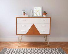 Vintage G Plan Chest of Drawers Upcycled & Painted White with