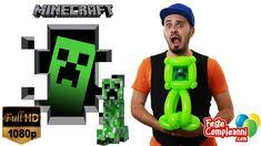 Creeper Minecraft - Scultura con Palloncini - Nel video di oggi vedremo come creare una scultura con i palloncini a forma di Creeper, il mostro del videogioc...