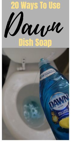 Dawn dish soap household and cleaning tips, tricks, and hacks. Tips Tricks 20 Ways To Use Dawn Dish Soap Bathroom Cleaning Hacks, Household Cleaning Tips, Homemade Cleaning Products, House Cleaning Tips, Cleaning Recipes, Natural Cleaning Products, Deep Cleaning, Spring Cleaning, Cleaning Supplies