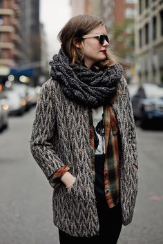 Love the layers and layers and layers in this look. Good work.