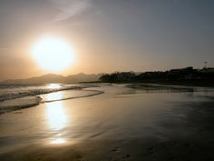 Sunset reflection on Playa Grande