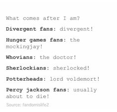 XD I think I'm just gonna pin this one to my Percy Jackson board. Because we had the best answer.