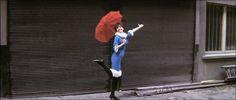 "Anna Karina in ""Une femme est une femme"" (Jean-Luc Godard, Anna Karina, Uniqlo, Miss Pandora, Louise Ebel, Gold Movie, Last Tango In Paris, French New Wave, French Style"