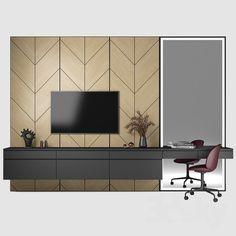 models: Other - Furniture composition 55 Bedroom Tv Wall, Bedroom Bed Design, Modern Bedroom Design, Tv Cabinet Design, Tv Wall Design, Tv Wall Furniture, Furniture Design, Tv Wanddekor, Modern Tv Wall Units