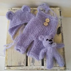 Baby Bear Dungaree, Bonnet & Toy Set