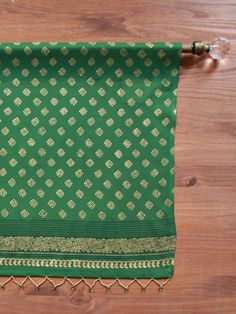 The Empress's Emeralds ~ Indian Inspired Green and Gold Valance