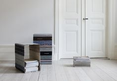 lars hofsjo recycles swedish rag rugs into torp and dunker tables Clean Technology, Green Building, Sustainable Design, Magazine Design, Interior Design Inspiration, Rag Rugs, Tall Cabinet Storage, Architecture Design, Innovation
