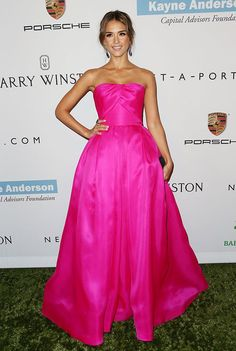 Jessica Alba in Reem Acra - I love this dress ahhh