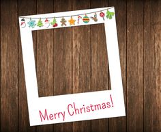 Christmas photo booth prop  DIGITAL FILE  Printable by IRMdesgn