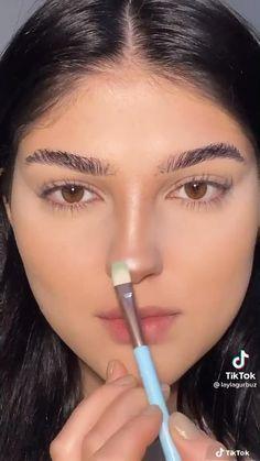 Makeup Inspo, Makeup Inspiration, Makeup Tips, Maquillage On Fleek, Nose Makeup, Foundation Makeup, Casual Makeup, Learn Makeup, Makeup Tutorial Eyeliner