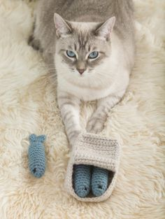 are you, too, a crazy cat person? do you also want to make knit or crocheted cat toys for your feline overlord?? you're in luck!