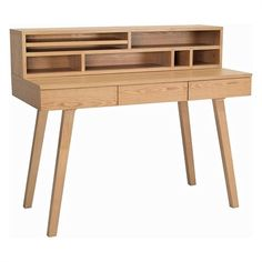 Whether working from a laptop or workbook the Preston Desk Natural from Iniko offers practical surface space to complete tasks.  sc 1 st  Pinterest & Ash Marcelle Desk | cool furniture! | Pinterest | Buy furniture ...