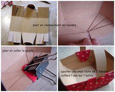 Tutorial and pattern for little cardboard basket #woodland #littleredridinghood