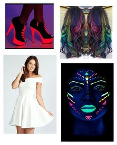 """""""Black light party"""" by isabella3612 ❤ liked on Polyvore featuring Boohoo"""