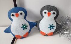 Pingüino de fieltro / ornamento de pingüino de por MyCraft2You