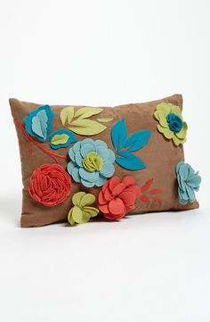 Interesting floral pillow!