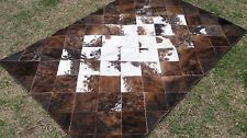 New Cowhide Rug Leather Cow Hide Animal Skin Patchwork Area Carpet Brindle 2 Cow Hide Rug, Cowhide Leather, Stepping Stones, Carpet, Rugs, Outdoor Decor, Animals, Home Decor, Farmhouse Rugs