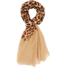 Charlotte Russe Brown Combo Leopard Print Scarf by Charlotte Russe at... ($11) ❤ liked on Polyvore featuring accessories, scarves, brown combo, woven scarves, long shawl, oblong scarves, print scarves and leopard print scarves