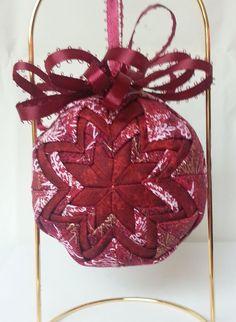 Christmas Keepsake Ornament - Handmade Quilted Christmas Ornament