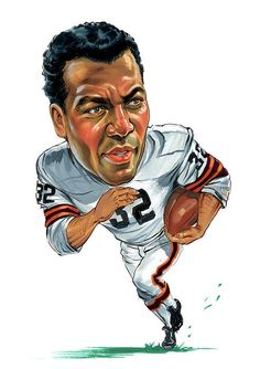 Hockey players, boxers, baseball players, golfers, basketball players etc. Arranged in alphabetical order. Other Caricatures of -lists made by me Jim Brown, Brown Art, Funny Caricatures, Celebrity Caricatures, Thing 1, American Sports, Sports Art, Cleveland Browns, Funny Cartoons