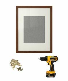 Ikea Hack | Ribba frame-- brass brackets (I like 3-inch brackets for a larger frame)