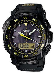 Amazon.co.jp: カシオ CASIO プロトレック PRO TREK PRG-550-1A9 ブラック×イエロー 方位 気圧 高度計測可能 タフソーラーモデル メンズ 腕時計 時計 【逆輸入品】: 腕時計通販