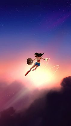 Wonder Woman in Air iPhone Wallpaper Free – GetintoPik - Best of Wallpapers for Andriod and ios