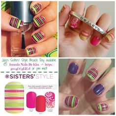 Dont' forget - this month's Sisters' Style ends on the 31st - it's summer neon fabulousness!!! on a clear wrap (so it's perfect for layering). PM me!!! **** #JamminNailsByKim #NailWraps #Manicure #Pedicure #PrettyNails #NailArt #NailArtWow #NailFashion #Beauty #DIYNails #DIYBeauty #DIYNailArt #Nails2Inspire #NailDesign #NonToxic #NonToxicBeauty #CleanBeauty #Vegan #CrueltyFree #VeganBeauty #IHaveAWrapForThat #Jamberry #SistersStyle #BeachDay #Summer #Neon #SummerNeon