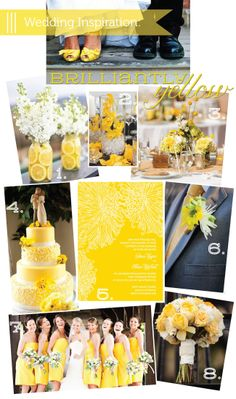 Modern and Preppy - Yellow Wedding Inspiration! I'm not getting married anytime soon but this looks so so fresh, cute and chic!