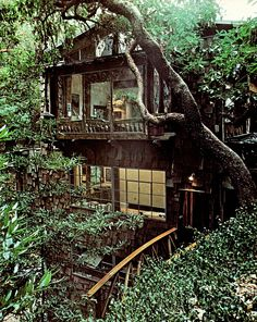 Hippie Witches Bohemian Paradise (Exterior view of Lynci's house in the forest on the Isle of Libra) Bohemian House, Future House, My House, Beautiful Homes, Beautiful Places, Classic Architecture, Forest House, In The Tree, Cabins In The Woods