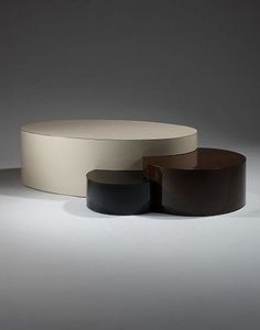 Maria Pergay; Laminate-Covered Modular 'Sisters' Coffee Table, 1972.