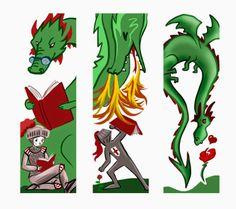 Bookmarks... Merche Moreno Ilustración y Diseño: Material para Sant Jordi