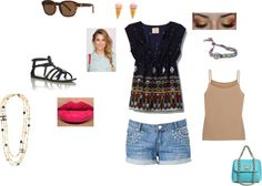 """Summertime"" by softballcutie12400 on Polyvore"
