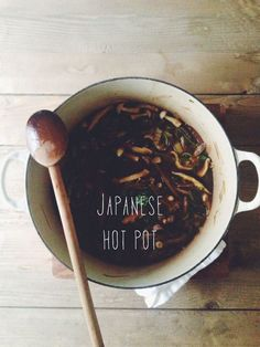 "Japanese Hot Pot -- This is basically what I made all through college, and is still a staple in my own kitchen, though I just call it ""veggie egg mess."" But I really like this poem/recipe combination, and knowing the ""real"" way to make it. I make it vegetarian now, of course."