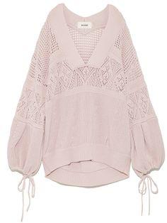 diseño de la manga del suéter volumen de punto (punto) | snidel (Sneijder) | venta online de moda | conejo en línea sitio de venta por correo oficial