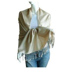 New Best Soft 100% Pashmina Scarf Shawl Wrap Stole (Beige) Scarf_tradinginc. $6.99