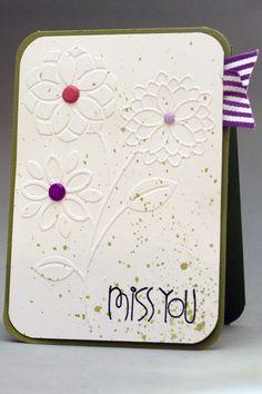 Embellish Dry Embossing Color Trends Challenge winner | kartenchaos.blogspot