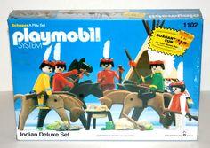 Vintage 1980 playmobile 'Indian Deluxe Set' 1102 New in Box SEALED RARE   eBay Visit our Ebay store at http://stores.ebay.com/Brogans-Card-Shop?_rdc=1