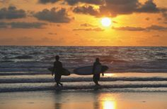 Kuta, Bali is a great surfing beach and a popular destination for backpackers #Bali #StudentFlights #Asia
