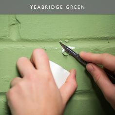 Farrow&Ball new colours 2016 - Yeabridge Green Interior Color Schemes, Interior Paint Colors, Colour Schemes, Paint Colours, Farrow And Ball Paint, Farrow Ball, Painting Wallpaper, Benjamin Moore, Colorful Interiors