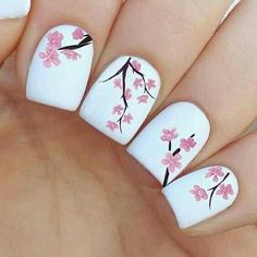 Wunderschöne Nageldesign Ideen für Frühlingsnägel Take a look at the best spring nail art in the photos below and get ideas for your own nail art for spring! Simple Nail Art Designs, Nail Designs Spring, Beautiful Nail Designs, Cute Nail Designs, Awesome Designs, Flower Nail Designs, Spring Design, Teen Nail Designs, Beautiful Nail Art