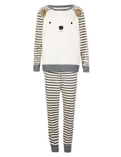 Square Bear & Striped Pyjamas | M&S