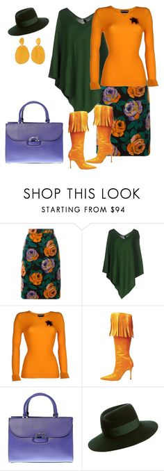 """# fall colors"" by andrea-jones-4 ❤ liked on Polyvore featuring Emanuel Ungaro, TESSA, Rochas, Manolo Blahnik, GUESS and Maison Michel"