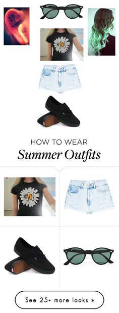 """""""5SOS outfit ."""" by qveenkyndall16 on Polyvore featuring MANGO, Ray-Ban and Vans"""