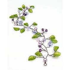 Wedding Hair Accessory purple green hair by CherylParrottJewelry ($62) ❤ liked on Polyvore