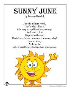Sunny June Fun Kids Poetry   Woo! Jr. Kids Activities